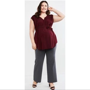 Petite Fitted Boot Cut Maternity Pants
